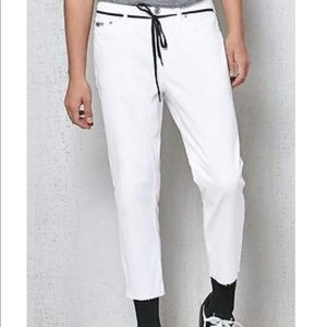 Pacsun slim tapered white jeans